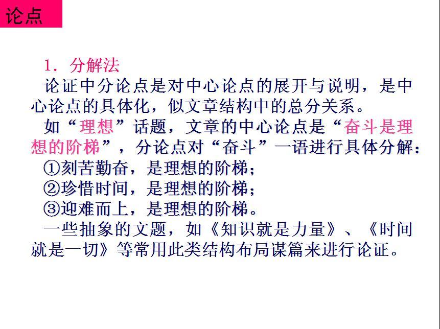 议论性散文开头_高考语文专题复课件:议论散文的写作技巧