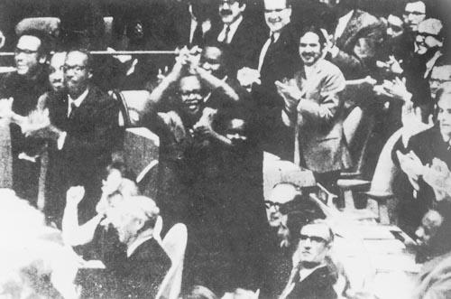 高中历史图片素材:1971年10月25日,第26届联大恢复中华人民共和国在