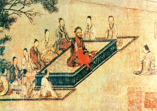 高中历史图片素材:孔子讲学