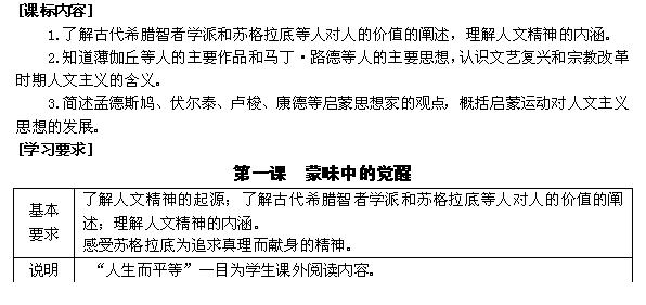 浙江省东阳市南马高中历史必修三教案:专题六