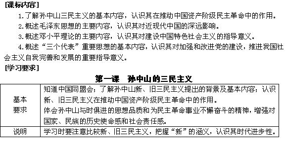 浙江省东阳市南马高中历史必修三教案:专题四