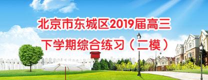 北京市东城区2019届高三下学期综合练习(二模)